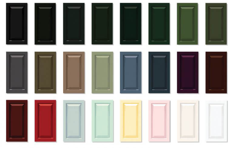 Timberlane's offers 24 premium finish options for exterior shutters as well as stains and custom color matching